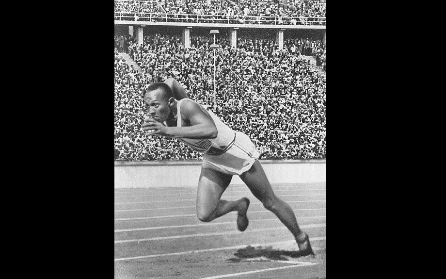 Jesse Owens This athlete rose to international fame when he won four gold medals during the 1936 Olympic Games in Germany - one each in the 100 meters, the 200 meters, the long jump, and as part of the 4x100 meter relay team