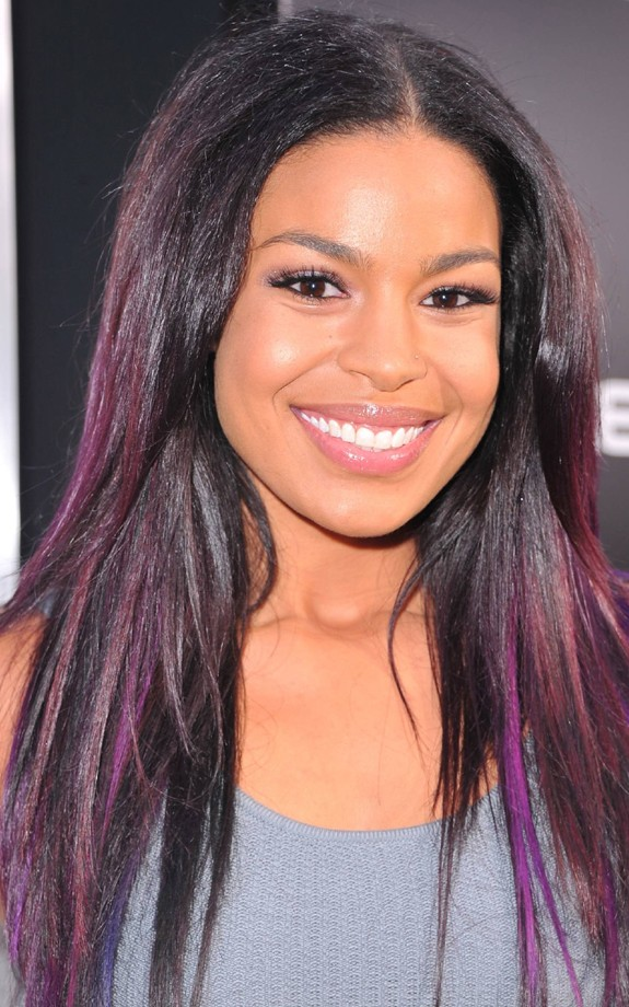 Even the usually safe Jordin Sparks purple streaked her do'