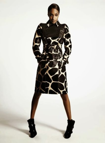 How <em>haute</em> is this trench! We are living for this silk animal printed overcoat, and the fierce pose Jourdan serves us in it; perfectly paired with wedge booties she's ready to take the world by storm. Photo Credit: <em>S Moda m</em>agazine