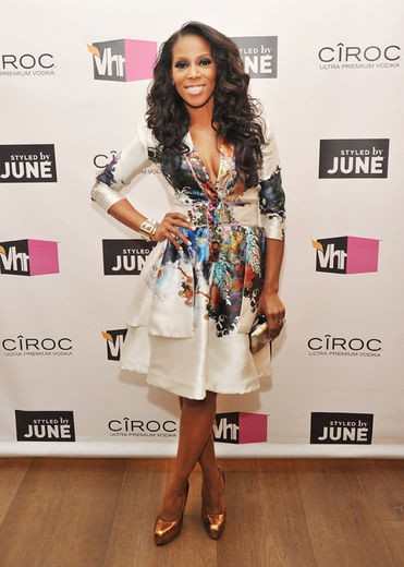 Stylist, and VH1 reality star June Ambrose wears Cynthia Rowley at the screening of her new show