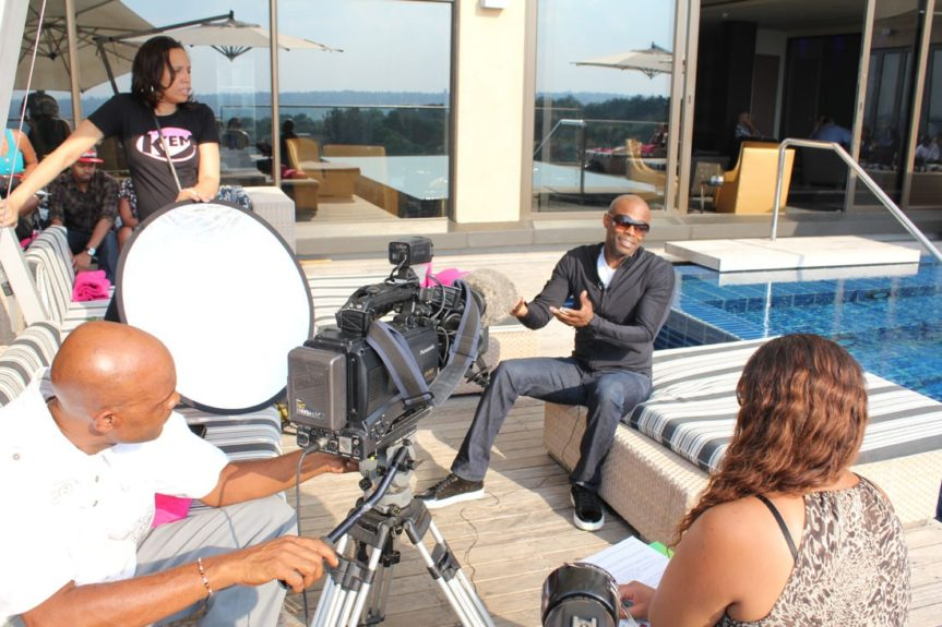 KEM in one-on-one interview poolside with eTV