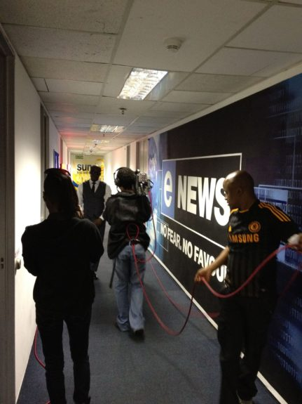 KEM on his way to interview on eTV Morning News Today