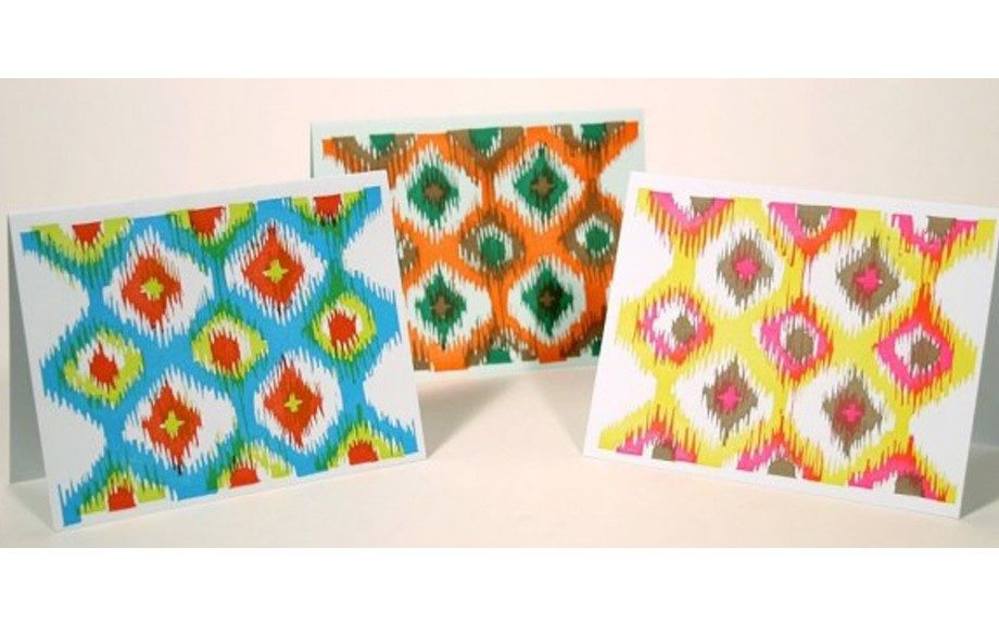 Ikat Note Cards, $13