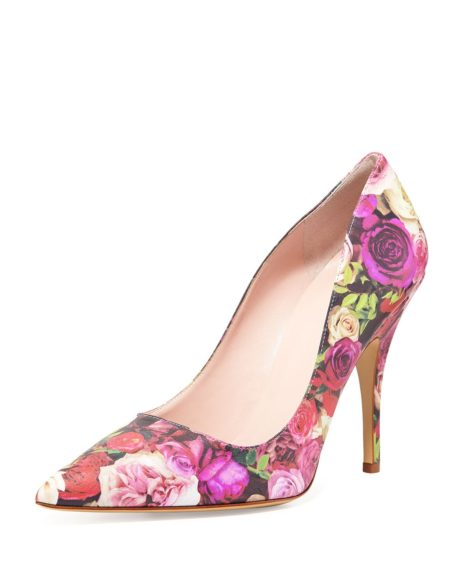 "<p style=""margin-left:.25in;""> 	You can always depend of <a href=""http://www.cusp.com/kate-spade-new-york-licorice-floral-print-leather-pump-The-Work-Shop/prod13160035_cat810002_cat2330002_/p.prod?ecid=CUALRHy3bqNL2jtQ"" target=""_blank"">Kate Spade New York for classic pumps.</a> $328."