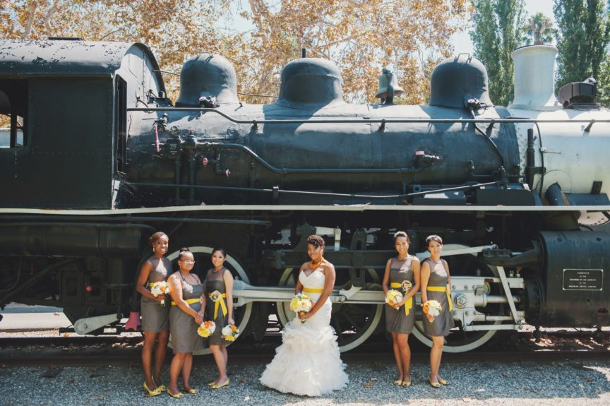 Such an edgy shot! The bridal party is serving us
