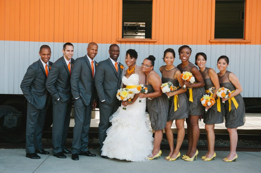 There's the gang! The yellow accents are just the perfect touch for the season