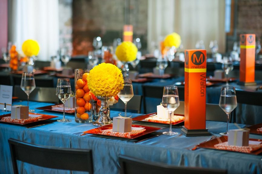 The wedding reception was simple and classic