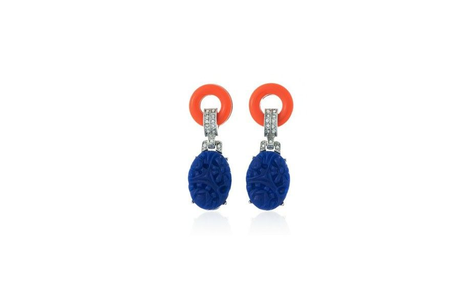 Kenneth Jay Lane Lapis Drop Earrings, $121 at thomaslaine.com