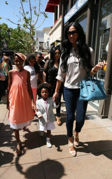 Kimora Lee Simmons and brood attend a pre-Easter event at The Grove