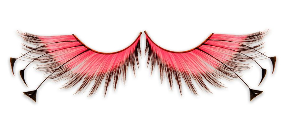 "One can't be Nicki without a pair of wild lashes. Add these Kryolan Showgirl Lashes for the complete dramatics. ($6, <a href=""http://www.alconeco.com/Products/Straight-Makeup/Eyes/Eyelash-Enhancement/False-Eyelashes/Kryolan-Showgirl-Lashes-Pink-Black"">www.alconeco.com</a>)"