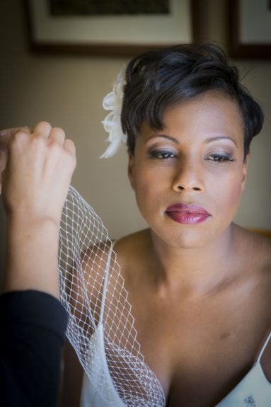 The Bride: LaWanda gets prepped with finishing touches on her special day
