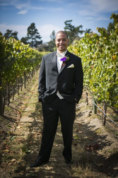The Groom: Zachary Knox is charming and smooth, ready to greet his bride