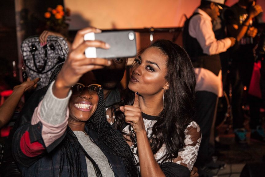 Selfies abound at Lipstick on the Mic night