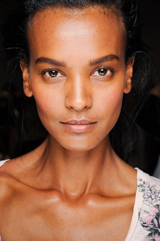 Liya Kebede backstage at the Proenza Schouler Spring 2012 show. Photo: Luca Cannonieri / GoRunway.com via Style.com