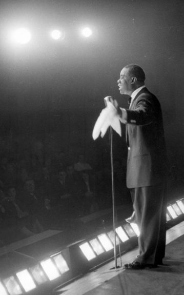 """Louis """"Pops"""" Armstrong's singing and scatting were as influential as his trumpet playing."""