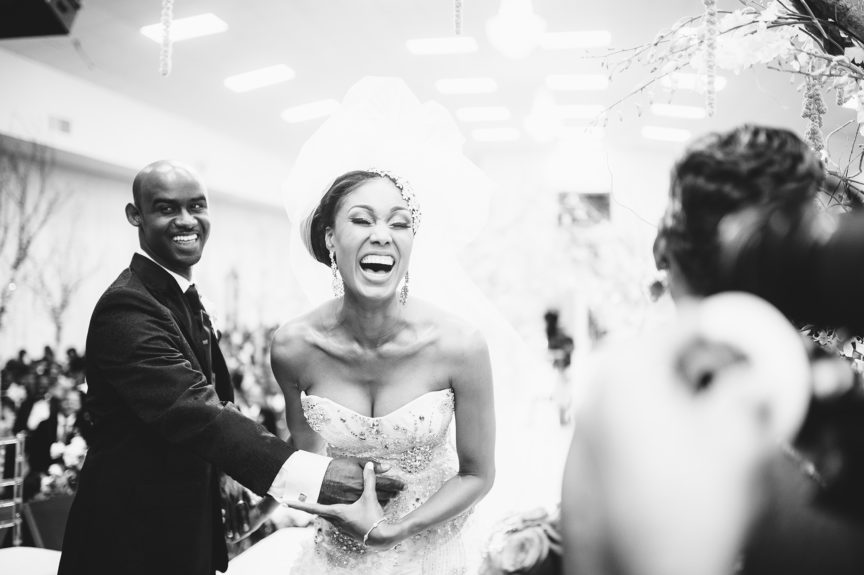 Nothing but giggles and laughs! That's how it should be on your wedding day, though.
