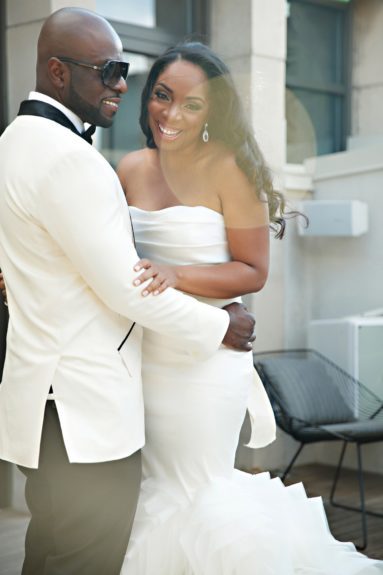 Jeronica and Keith share a moment before their reception.