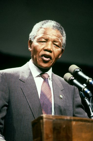 """Portrait of Nelson Mandela taken on June 25, 1990 by Fred Watkins  View the entire EBONY Collection<strong><a href=""""http://www.ebony.com/store#axzz2PsEj7sec"""" target=""""_blank"""">here</a></strong>."""