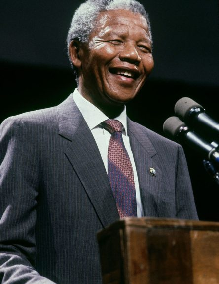 """Nelson Mandela is pictured on June 25, 1990. (Frederick Watkins, Jr./Ebony Collection)  View the entire EBONY Collection<strong><a href=""""http://www.ebony.com/store#axzz2PsEj7sec"""" target=""""_blank"""">here</a></strong>."""