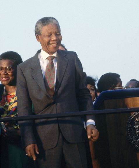 """Nelson Mandela smiles to his audience in this undated photo. (Moneta Sleet, Jr./Ebony Collection)  View the entire EBONY Collection<strong><a href=""""http://www.ebony.com/store#axzz2PsEj7sec"""" target=""""_blank"""">here</a></strong>.<br />"""