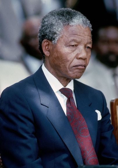 """Nelson Mandela appears in this 1990 photo. (D. Michael Cheers/Ebony Collection)  View the entire EBONY Collection<strong><a href=""""http://www.ebony.com/store#axzz2PsEj7sec"""" target=""""_blank"""">here</a></strong>."""