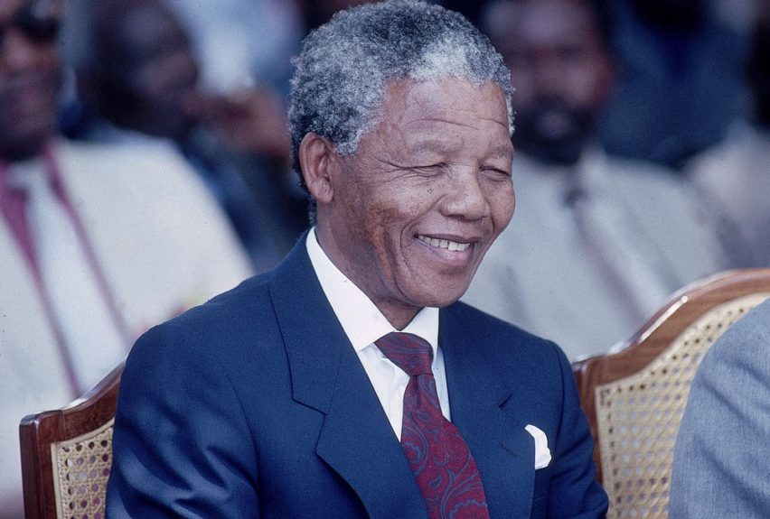 """Nelson Mandela is photographed in 1993. (D. Michael Cheers/Ebony Collection)  View the entire EBONY Collection<strong><a href=""""http://www.ebony.com/store#axzz2PsEj7sec"""" target=""""_blank"""">here</a></strong>."""