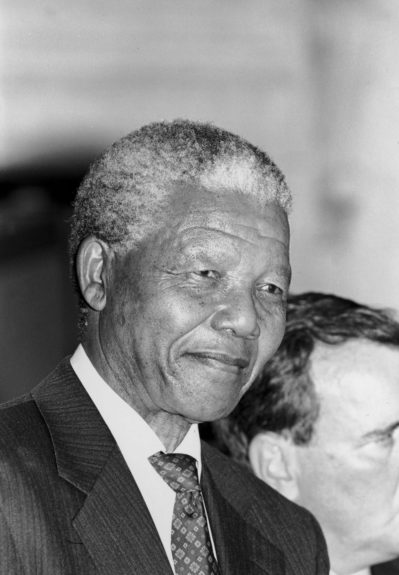 """Nelson Mandela is pictured during a visit to Chicago in 1993. (Vandell Cobb/Ebony Collection)  View the entire EBONY Collection<strong><a href=""""http://www.ebony.com/store#axzz2PsEj7sec"""" target=""""_blank"""">here</a></strong>."""