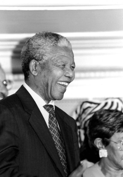 """Nelson Mandela is pictured during a visit to Chicago, IL in 1993. (Vandell Cobb/Ebony Collection)  View the entire EBONY Collection<strong><a href=""""http://www.ebony.com/store#axzz2PsEj7sec"""" target=""""_blank"""">here</a></strong>."""