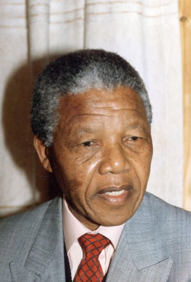 """Nelson Mandela is pictured during his tour of the United States in 1990. (D. Michael Cheers/Ebony Collection)  View the entire EBONY Collection<strong><a href=""""http://www.ebony.com/store#axzz2PsEj7sec"""" target=""""_blank"""">here</a></strong>."""