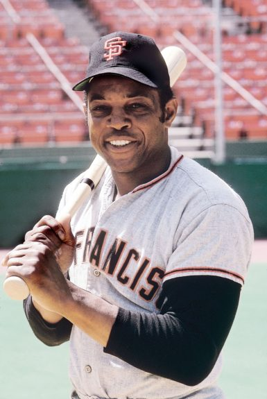 Willie Mays of the San Francisco Giants is pictured in 1971.  (Leroy Patton/Ebony Collection)