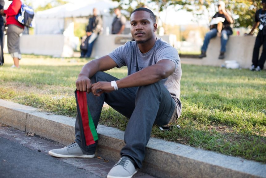 "<p> 	""To be honest, I really just want solidarity with Black people outside outside of my community in San Diego. We're only 5% of the population there, and treated like a 3<sup>rd</sup> world country.""-Aaron Harvey</p> <p> 	Photo credit: Aaron Banks </p>"