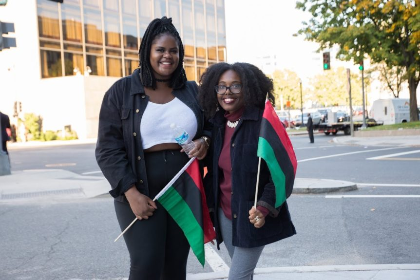 "<p> 	""I wanted to come to the states, so thought I might as well come for the march. I guess you can say I'm a 'conscious' Black person.""-Lara Ijitoye, London. ""I just wanted to show love and support the cause.""-Paris Dawson, Minnesota</p>"