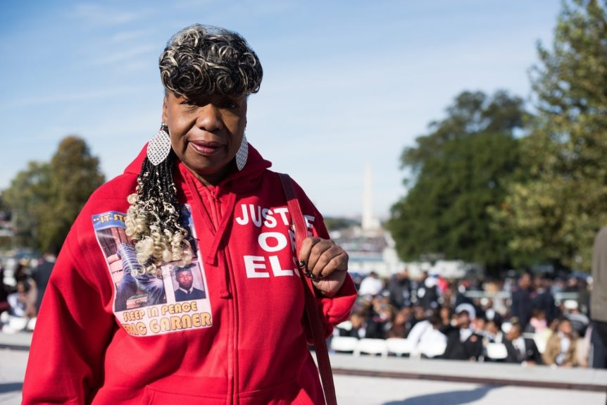 "<p> 	""I am changing my tragedy into a triumph. Until that's done I'll be out here -- in the crowds, I'll be in the ring. If they knock me down, I'm gonna get up. They gonna have to knock me out before I quit."" -Gwen Carr, mother of Eric Garner</p> <p> 	 </p>"