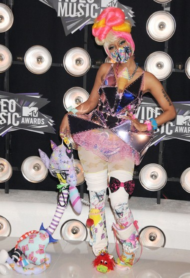 Nicki had many at a lost for words at the 2011 MTV Awards, in this indescribable creation