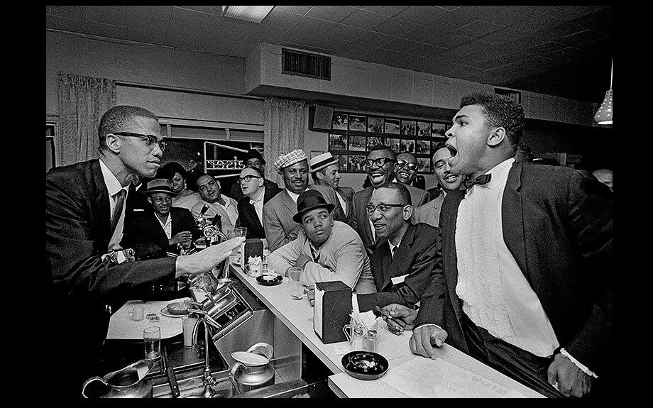 Thursday: May 3, 2012: Settle down now! Malcolm X and Muhammad Ali by Bob Gomel