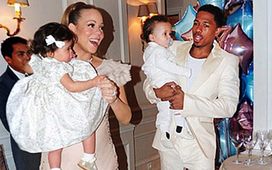 Mariah Carey and husband Nick Cannon celebrate the birth of their children, Moroccan and Monroe