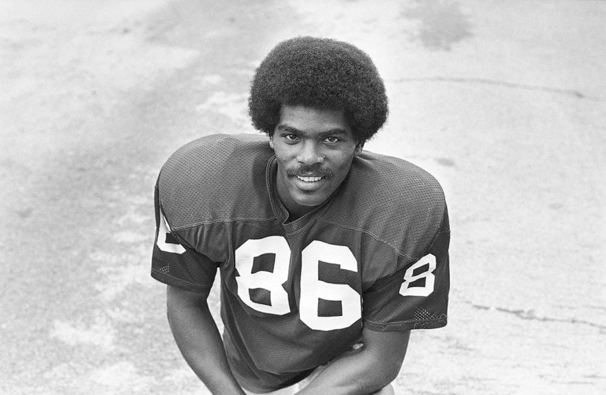 <p> 	<strong>1968</strong></p> <p> 	Marlin Briscoe became the first Black starting quarterback. Playing for the Denver Broncos, he threw 14 TDs in 11 games, setting a team record for rookies.</p>