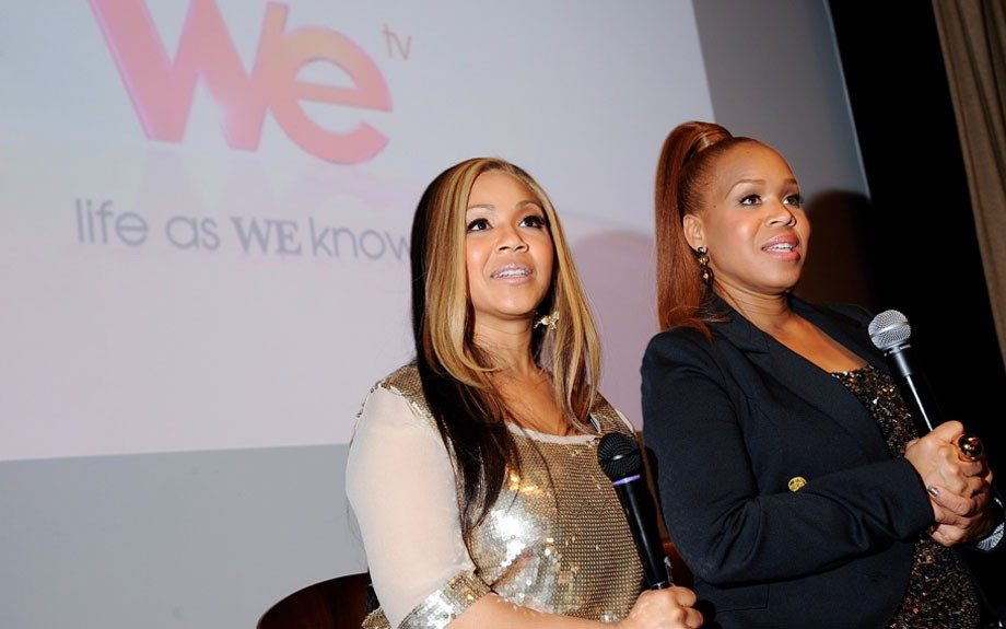 The sisters Erica Campbell (left) and Tina Campbell (right) during the press Q&A after the show