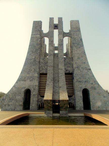 President Nkrumah and his wife, Fathia, were buried at the base of the mausoleum dedicated to him in Accra.