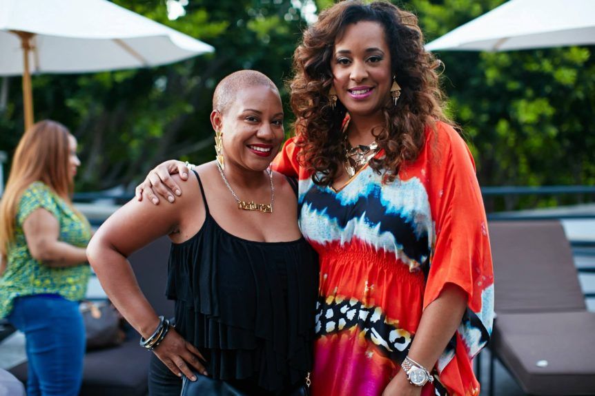 Natural hair stylist Felicia Leatherwood and Strength of Nature National Marketing Director, Charlene Dance