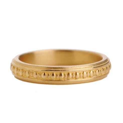 Megan Thorne's yellow gold classic band, $1,750 at Greenwichjewelers.com