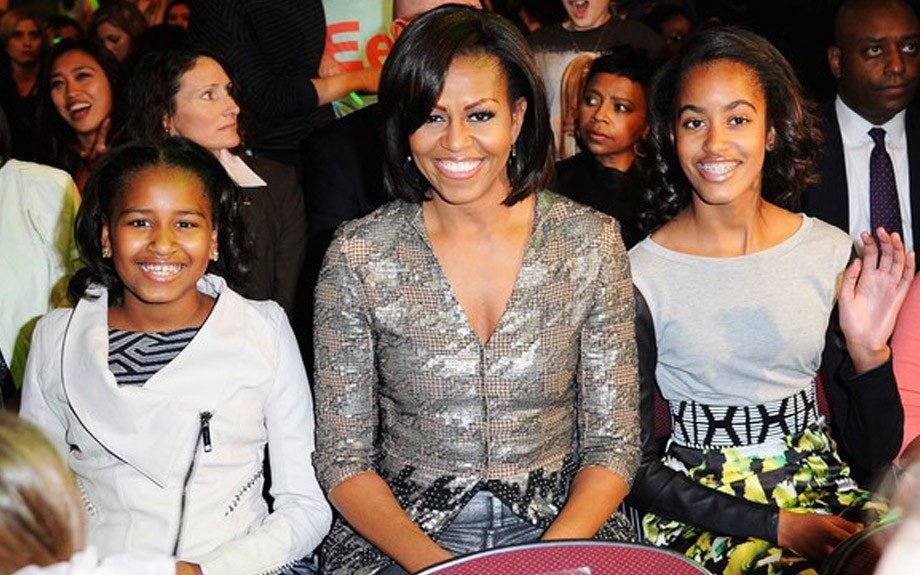 First Family Fun: First Lady Michelle Obama and daughters Sasha and Malia at the Nickelodeon Kid's Choice Awards