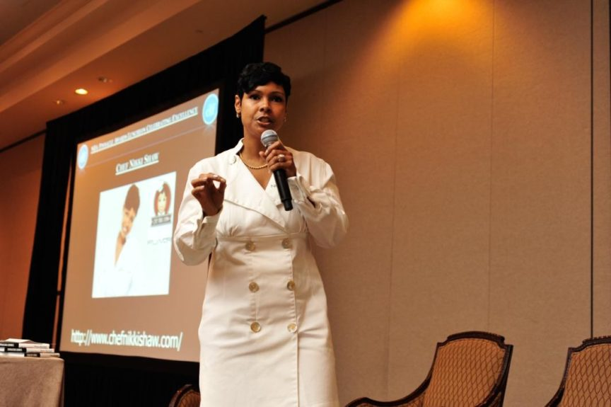 Chef Nikki Shaw encourages NBA members to eat healthy and to make better decisions.