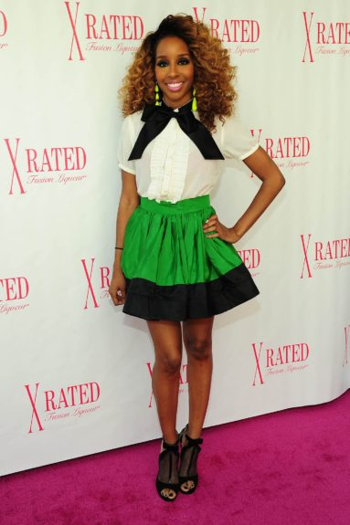 Celebrity blogger Necole Bitchie hit up La La Anthony's birthday brunch with X-Rated Fusion Liqueur at Bagatelle in West Hollywood during the 2012 BET Awards weekend.