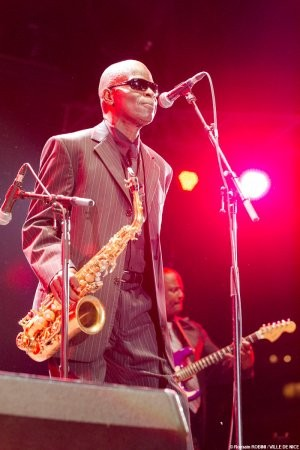 Funk saxophone legend Maceo Parker—known for playing with James Brown and Parliament/ Funkadelic—headlined the main stage on Day 4 of the Nice Jazz Festival.
