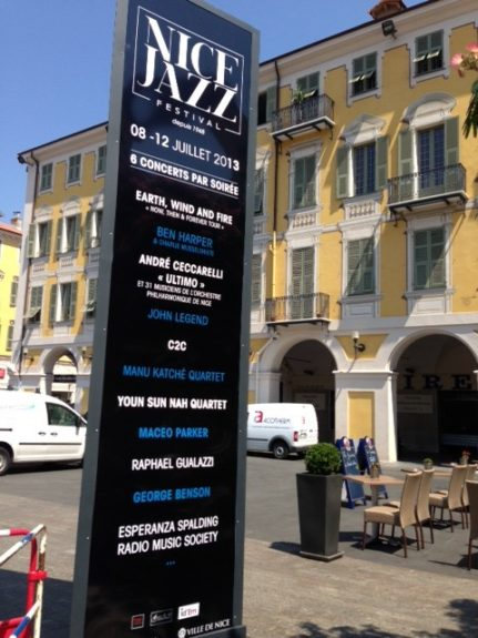 The Nice Jazz Festival dominated this French Riviera city with posters and placards everywhere, including in the scenic Place Garibaldi.