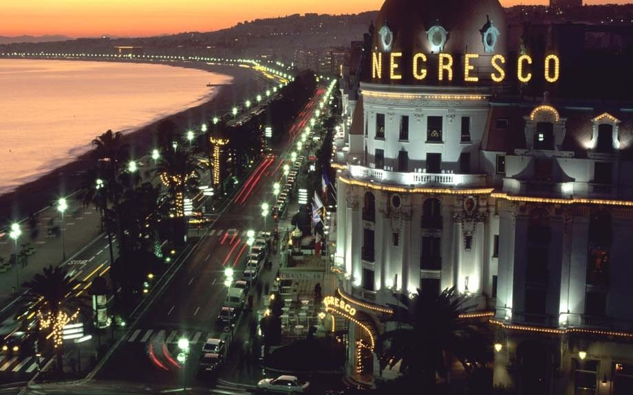 Nice and Promenade des Anglais and Le Negresco