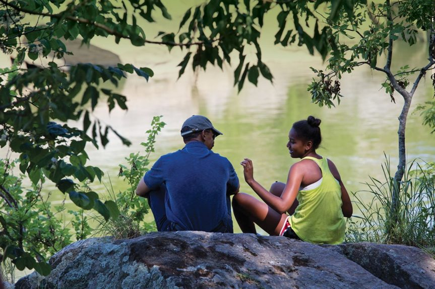 <p> 2014: A father-daughter moment in Great Falls, Va.</p>