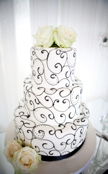 The bride and groom's cake. Artful yet simplistic