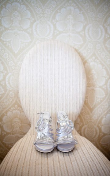 Priceless shoes for a priceless bride